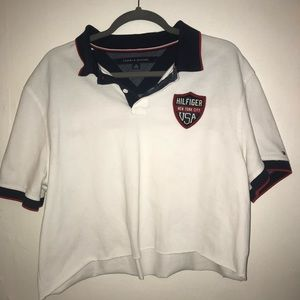 Vintage Tommy Hilfiger cropped polo tee shirt